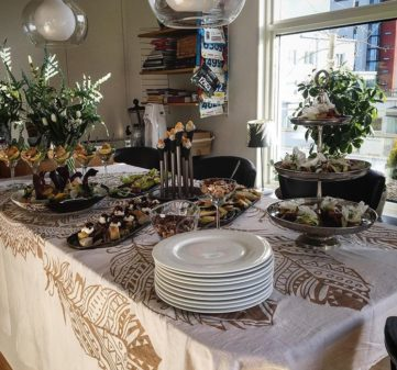 Vårig födelsedagsbuffé på Lillåudden
