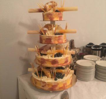 Bröllopstårta - Blåbär