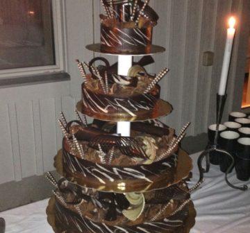 Bröllopstårta - Choklad