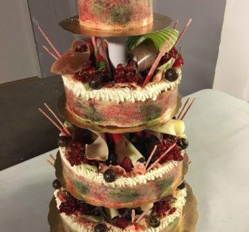 Bröllopstårta - Röda vinbär