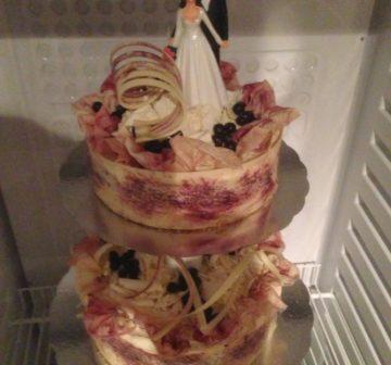 Bröllopstårta - Svarta vinbär