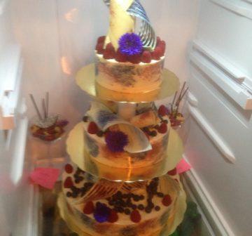 Bröllopstårta - Vit choklad
