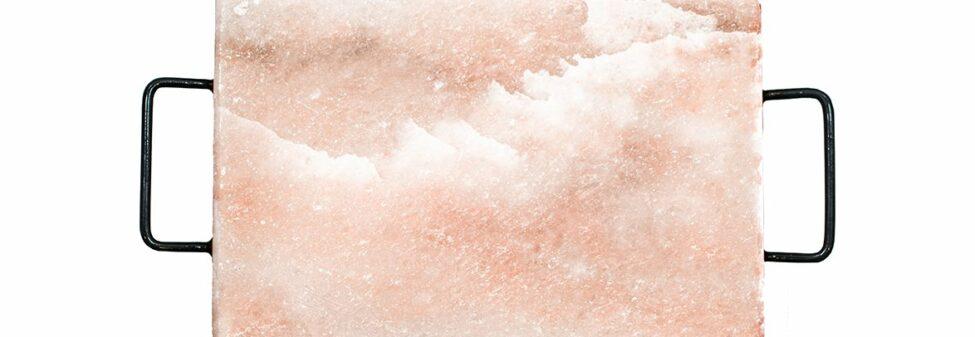 Saltsten från Himalaya med hållare